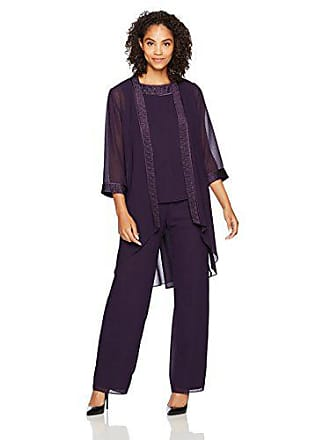 4b07dbd93e8 Le Bos Womens 3 PC Pleated Charmuse Pant Set