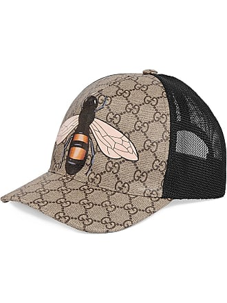 5fe64144b Gucci Bee print GG Supreme baseball hat - Neutrals