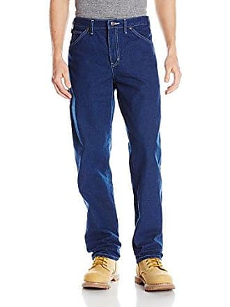 Dickies Mens Relaxed Fit Carpenter Jean, Indigo Garment Washed, 36x34