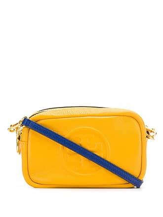 Tory Burch embossed logo camera bag - Amarelo