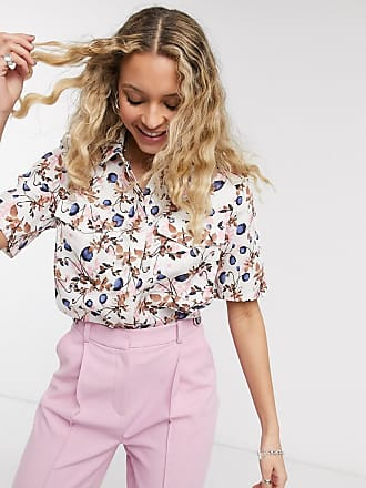 Object boxy oversized shirt in blossom print-Multi