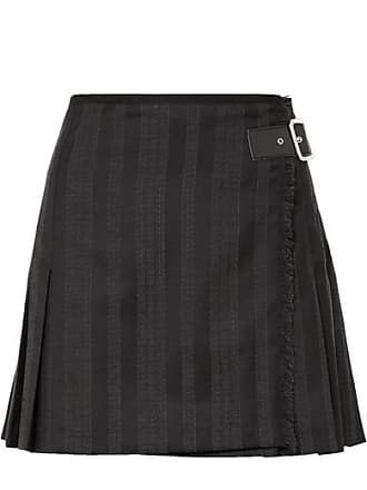 McQ by Alexander McQueen Wrap-effect Striped Wool-blend Jacquard Mini Skirt - Black