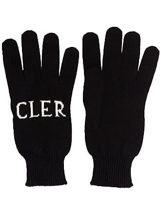 Moncler intarsia knit logo gloves - Preto