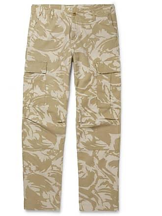 Carhartt Work in Progress Camouflage-print Cotton-canvas Cargo Trousers - Beige