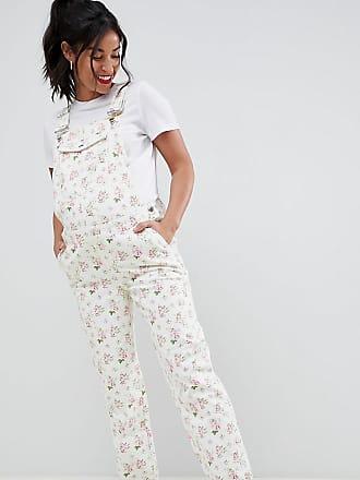 9605e07107f4 Asos Maternity ASOS DESIGN - Umstandsmode - Mit Blumen bedruckte Denim- Latzhose - Mehrfarbig