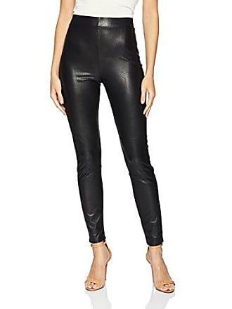 Splendid Womens Full Length Long Legging Bottom, Faux Leather Black, Small