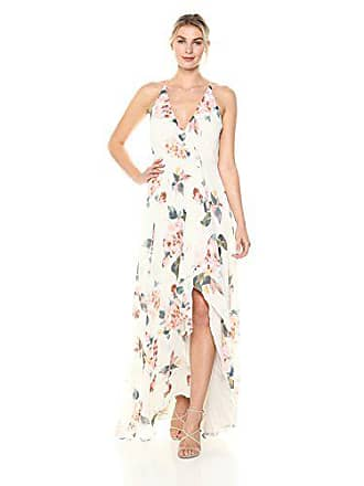 635041dbec72 Jenny Yoo Womens Farrah Halter Faux Wrap Chiffon Dress, Soft sage Multi, 14