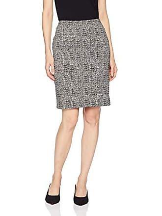 Karen Kane Womens HIGH Stretch Skirt, Black/White, Large