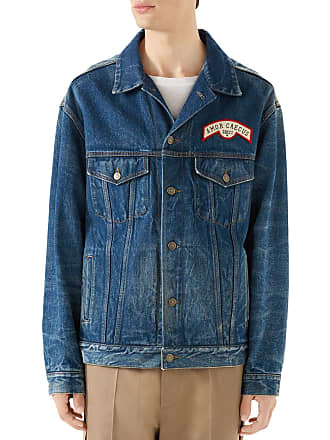 8ad1eb417bd Gucci Mens Logo-Patched Jean Jacket