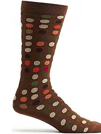 Ozone Design Mens-Unisex Dots To Dots Sock,Chocolate,9-13U