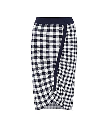 Jonathan Simkhai Checked knit midi skirt