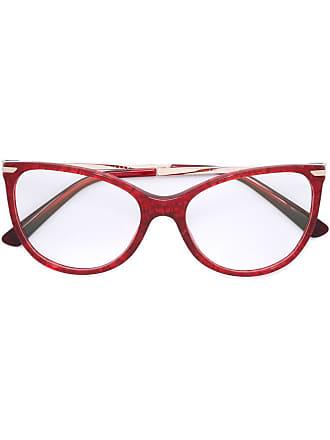 Bulgari cat eye glasses - Vermelho