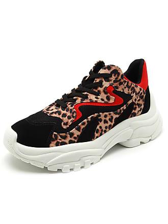 e3d87689110 Zatz Tênis Dad Sneaker Chunky Zatz Onça Preto Bege