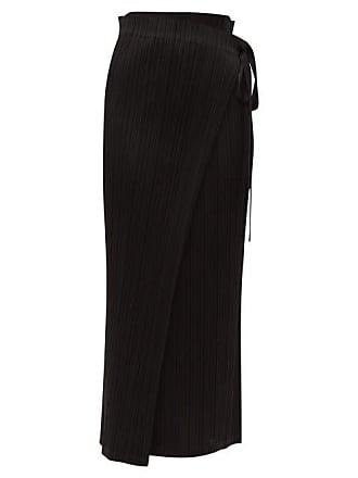 6b6e581c5 Pleats Please Issey Miyake Tie Waist Pleated Midi Skirt - Womens - Black