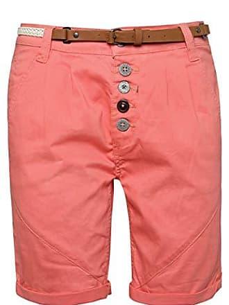 013dc57f9ff28f Sublevel Damen Chino-Shorts mit Flecht-Gürtel I Leichte Bermuda I Kurze Hose  in