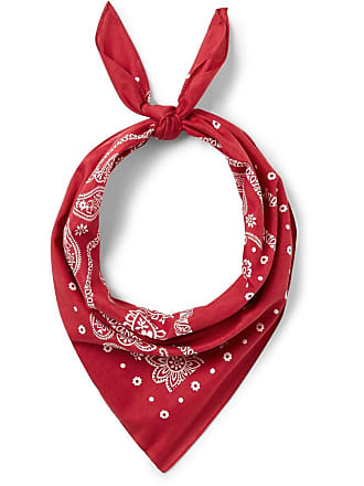 Palm Angels Printed Cotton Bandana - Red