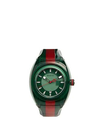 2c8a466b52f Gucci Sync Web Striped Watch - Mens - Green Multi