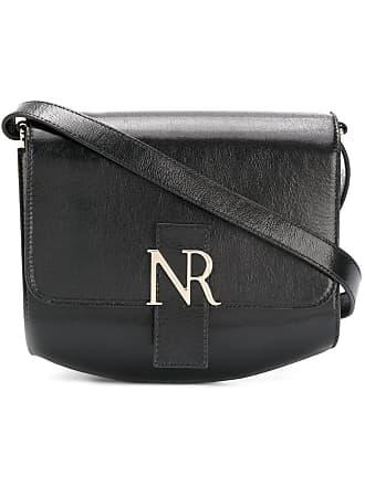 Nina Ricci Bolsa tiracolo de couro com logo - Preto