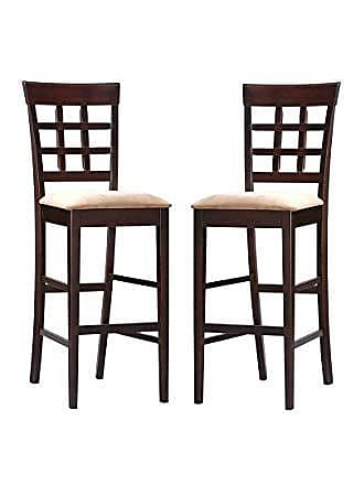 Coaster Fine Furniture Gabriel Upholstered 29 Bar Stools Cappuccino and Tan (Set of 2)