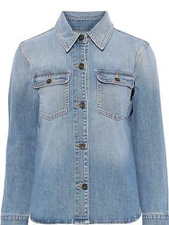 Frame Denim Frame Woman Faded Denim Shirt Light Denim Size XS