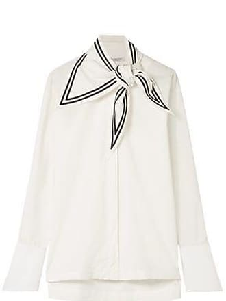 Philosophy di Lorenzo Serafini Philosophy Di Lorenzo Serafini Woman Knotted Cotton-poplin Shirt White Size 46