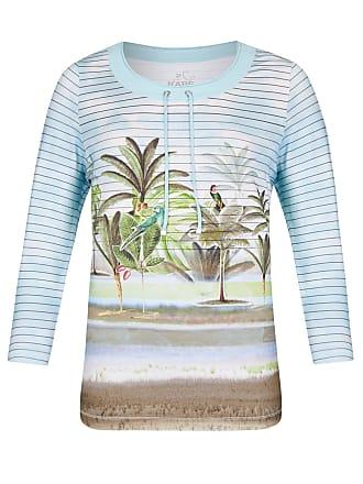2312cf0a13ed00 Rabe Rabe Shirt mit sommerlichen Motiven und Streifen