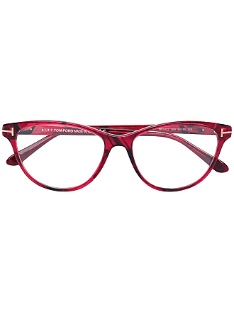 Tom Ford Eyewear soft cat eye glasses - Red