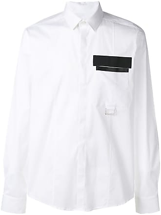 Les Hommes open pocket shirt - Branco