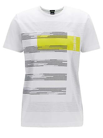 2eaffef14 BOSS Regular-fit cotton T-shirt with stripe artwork