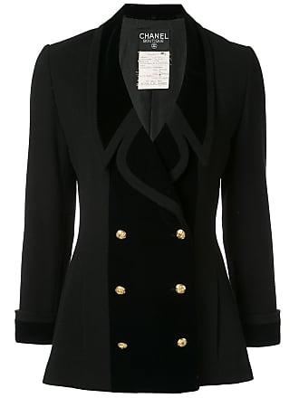 Chanel CC logos long sleeve jacket - Black