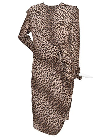 778dd25bc3 Lanvin Hiver Pre-fall 2010 Long Sleeved Leopard Print Cocktail Dress New 40