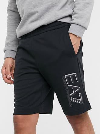 Emporio Armani Armani - EA7 Visibility - Shorts van sweaterstof met groot logo in zwart