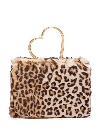 632d174ce487 Shrimps Nancy Leopard Print Faux Fur Bag - Womens - Leopard