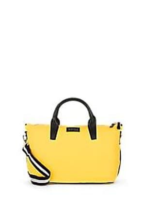 Barneys New York Womens Monica Leather-Trimmed Satchel - Yellow