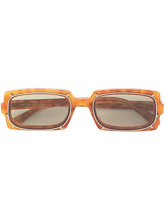 Karen Walker Óculos de sol retangular Turning - Marrom
