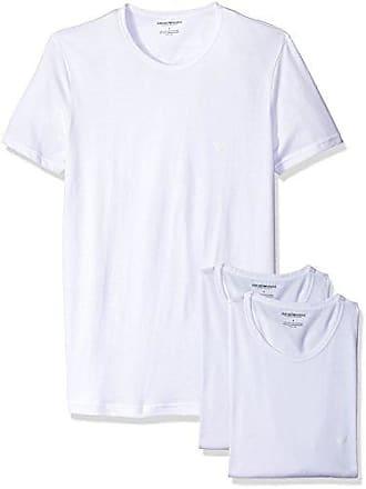 0bfe65a8 Emporio Armani Mens Cotton Crew Neck T-Shirt, 3-Pack, White,