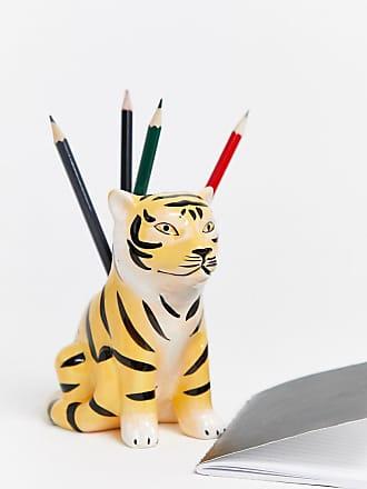 Typo Typo - Portapenne a forma di tigre-Multicolore
