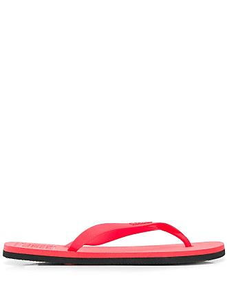Ecoalf Chinelo com logo - Vermelho