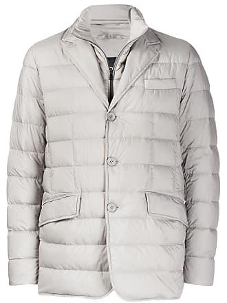 Herno single-breasted padded jacket - Grey