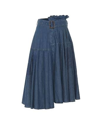 J.W.Anderson Asymmetric denim midi skirt