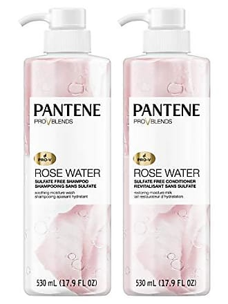Pantene Pro-V Shampoo and Sulfate Free Conditioner Kit, Paraben and Dye Free, Pro-V Blends, Soothing Rose Water, 17.9 fl oz, Twin Pack