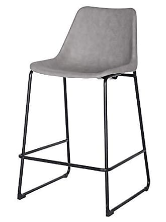 New Pacific Direct 9300024 Delta PU Counter Stool, Taupe