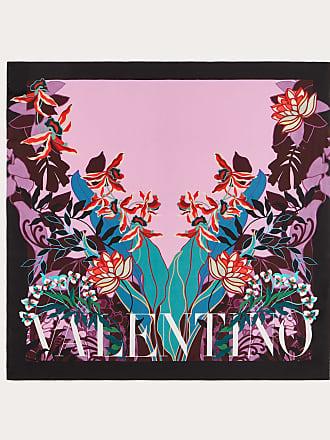 Valentino Garavani Valentino Garavani Silk Twill Foulard With Mirrored Orchid Print 90x90 Cm / 35.4x35.4 In. Women Multicolored Silk 100% OneSize