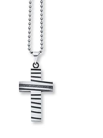 c9a5413a8 Jared The Galleria Of Jewelry Mens Cross Necklace 1/8 ct tw Black Diamonds  Stainless