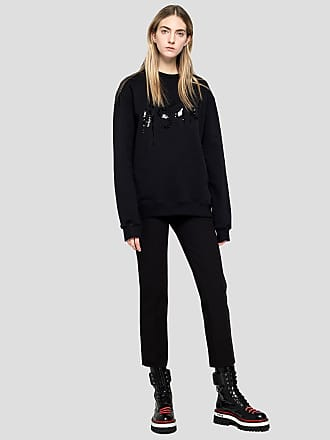 Msgm slim pants in double-layer cady crepe