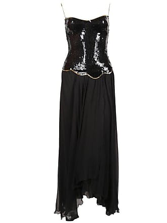LORIS AZZARO Asymmetrical Gown With Sequined Bodice 8e27c4845