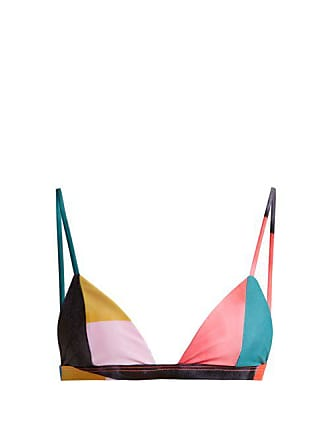 d88c95b4ae Mara Hoffman Astrid Triangle Bikini Top - Womens - Blue Multi