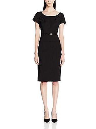5842bcd0bb9 Daniel Hechter 10270 700708 Kleid - Robe Crayon Manches Courtes - Femme -  Noir (Black