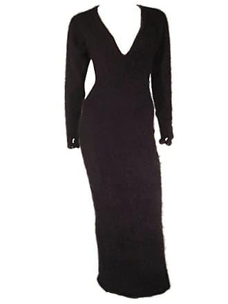 3fce013299 James Galanos 1980s James Galanos Black Angora And Cashmere Sweater Dress
