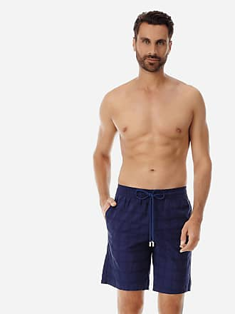 Vilebrequin Men Ready to Wear - Men Cargo Cotton Bermuda Shorts Carreaux - BERMUDA - BOLIDE - Blue - XL - Vilebrequin